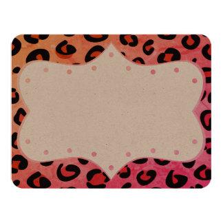 Nuevos invitación/rosa exclusivos a mano del tigre invitación 10,8 x 13,9 cm