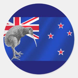 Nuevos kiwis de Zealands todos los regalos del Pegatina Redonda