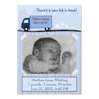 Nuevos lados de la invitación dos del nacimiento