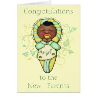 Nuevos padres de encargo nuevo bebé tarjetón