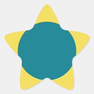 nuevos pegatina en forma de estrella