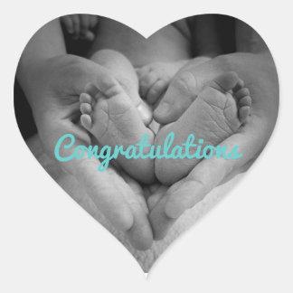 Nuevos pegatinas de Loverheart del bebé Pegatina En Forma De Corazón