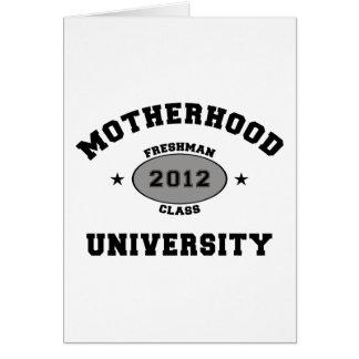 Nuevos regalos 2012 de la camiseta de la madre tarjeta de felicitación