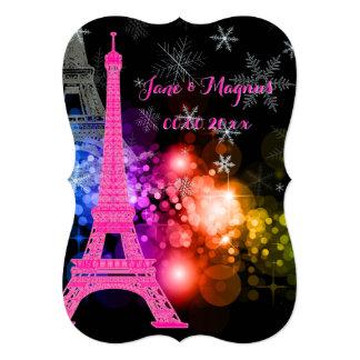 Nuit de Eiffel/paris/la del viaje del la de Invitaciones Personalizada