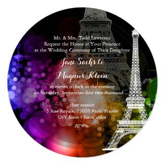 Nuit de Eiffel/paris/la del viaje del la de Invitación