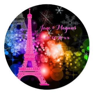 Nuit de Eiffel/paris/la del viaje del la de Invitacion Personalizada