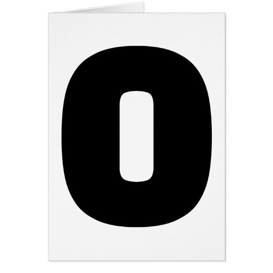 Número 0 cero tarjeta de felicitación