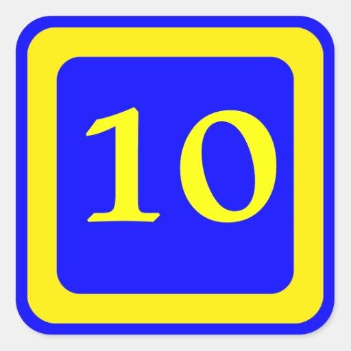 Pegatinas Número 10 | Diseños de stickers Número 10 personalizados