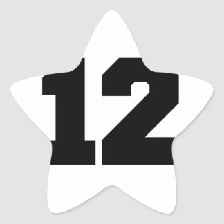 Número 12 calcomania cuadrada personalizada