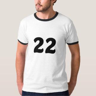 Número 22 camiseta