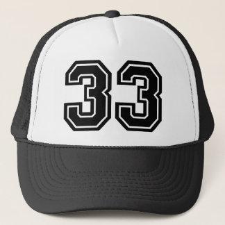 Número 33 gorra de camionero