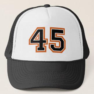 Número 45 gorra de camionero