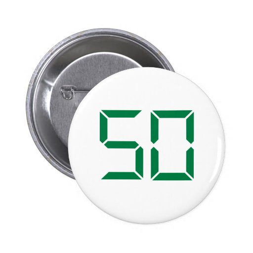 Número - 50 chapa redonda de 5 cm