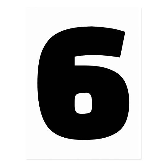 Número 6 seis postal