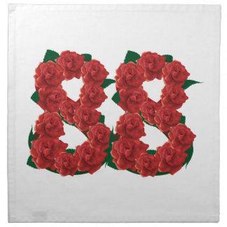 Número 88 floral servilleta de tela