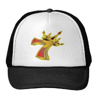 Número afortunado 7 con el tatuaje de la corona gorras