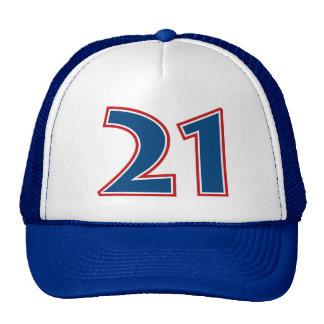Número azul 21 gorra