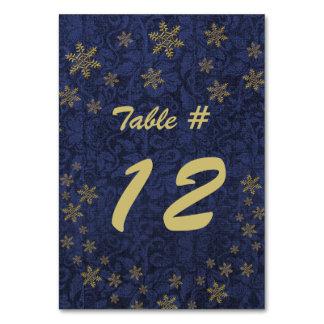 Número azul marino de la tabla de la fiesta de Nav