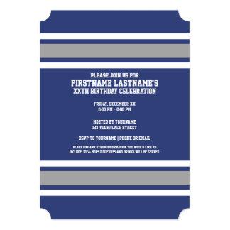 Número conocido de encargo del jersey azul y de invitación 12,7 x 17,8 cm