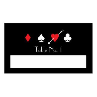 Número conocido de relleno pegado amor de la tabla tarjetas de visita