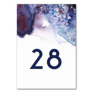 Número de la tabla de la acuarela de los cristales