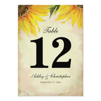 Número de la tabla de la recepción nupcial del invitación 12,7 x 17,8 cm