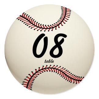 Número de la tabla del béisbol invitación 13,3 cm x 13,3cm