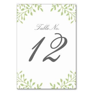 Número de la tabla del boda del jardín secreto -