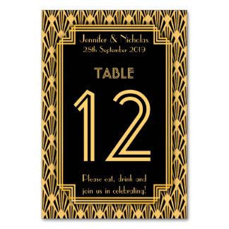 Número de la tabla del boda del modelo de los