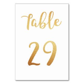 Número de la tabla del boda del oro. Decoración de Tarjeta