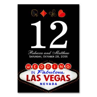 Número de la tabla del boda en Las Vegas fabuloso