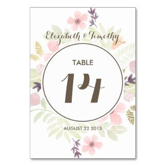 Número de la tabla del jardín de la acuarela y del