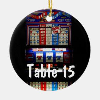 Número de la tabla del tema del casino de Las Vega Ornamentos Para Reyes Magos