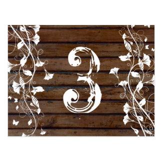 Número de madera oscuro de la tabla de Brown Postal