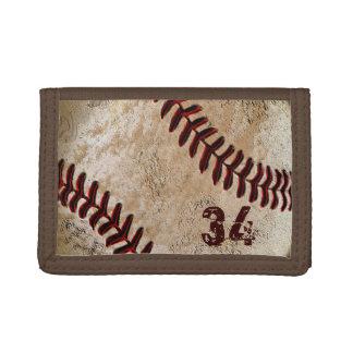 NÚMERO del jersey o SU cartera del béisbol del