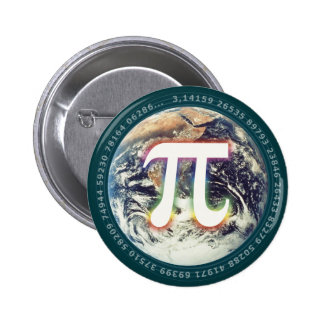 Número del pi en la tierra - botón de la matemátic