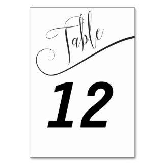 Número elegante blanco y negro de la tabla