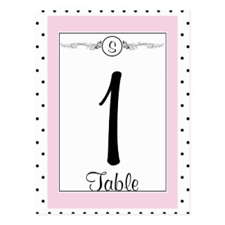 Número elegante de la tabla del boda de la maripos tarjetas postales