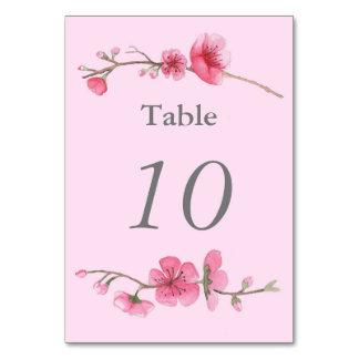 Número floral de la tabla