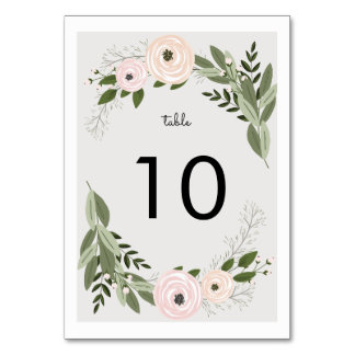 Número floral de la tabla de las puntillas del