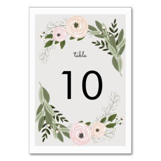 Número floral de la tabla de las puntillas del tarjeta