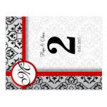 Número negro y de plata de la tabla de la franja r tarjeta postal