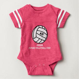 Número personalizado del jugador de voleibol, body para bebé