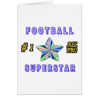 Número uno toda la superestrella del fútbol profes tarjetón