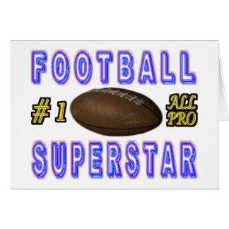 Número uno toda la superestrella del fútbol profes felicitación