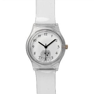 Números animales de los chicas del búho lindo reloj de pulsera