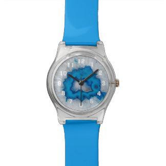 Números azules de Geode de la ágata Reloj De Pulsera