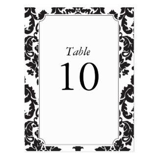 Números clásicos de la tabla del damasco postal