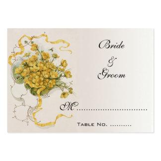 Números de la tabla del boda del vintage, abejas tarjetas de visita grandes