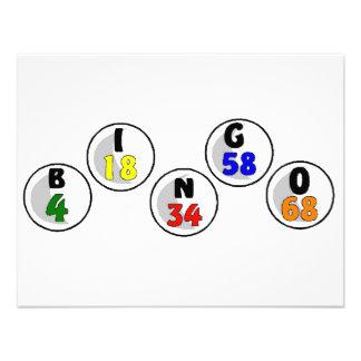 Números del bingo comunicado personal